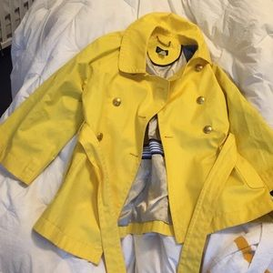 Beautiful J.Crew YELLOW fitted trench